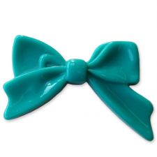 45mm TEAL Bright Bowknot Flatback Bow Cabochon